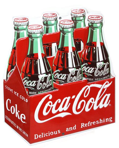 coca cola affiche m tallique caisse de coke affiches retro en metal. Black Bedroom Furniture Sets. Home Design Ideas