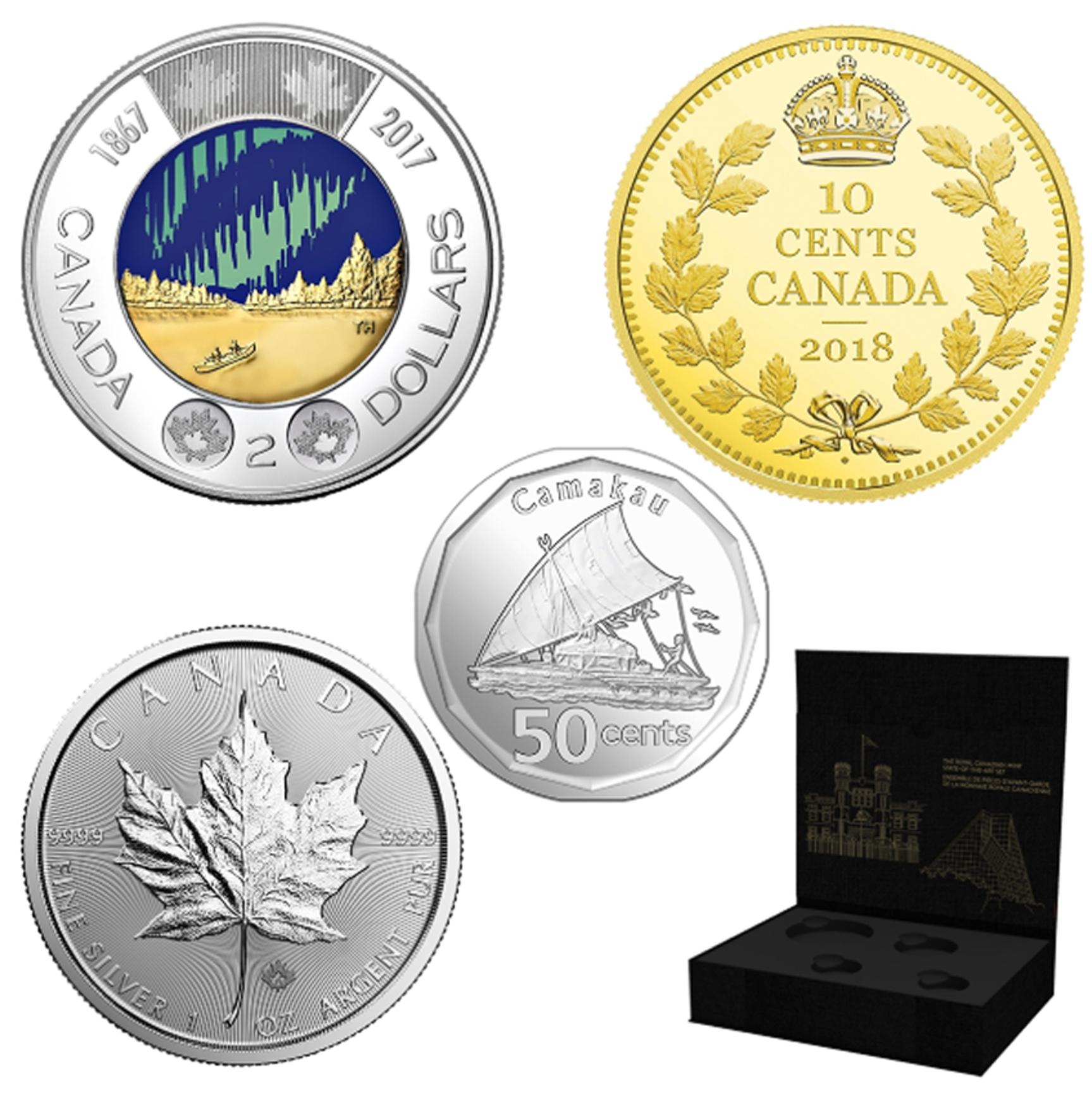 ENSEMBLE DE PIÈCES D'AVANT-GARDE DE LA MONNAIE ROYALE CANADIENNE -  PIÈCES DU CANADA 2018