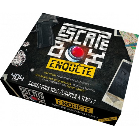 ESCAPE GAME -  ENQUÊTE (FRANÇAIS) -  ESCAPE BOX