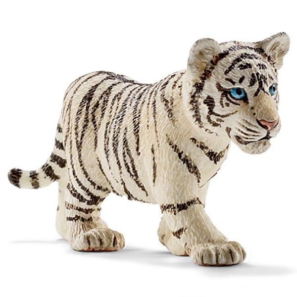 Schleich 14732 Bébé Tigre Blanc 7 CM Série Animaux Sauvages