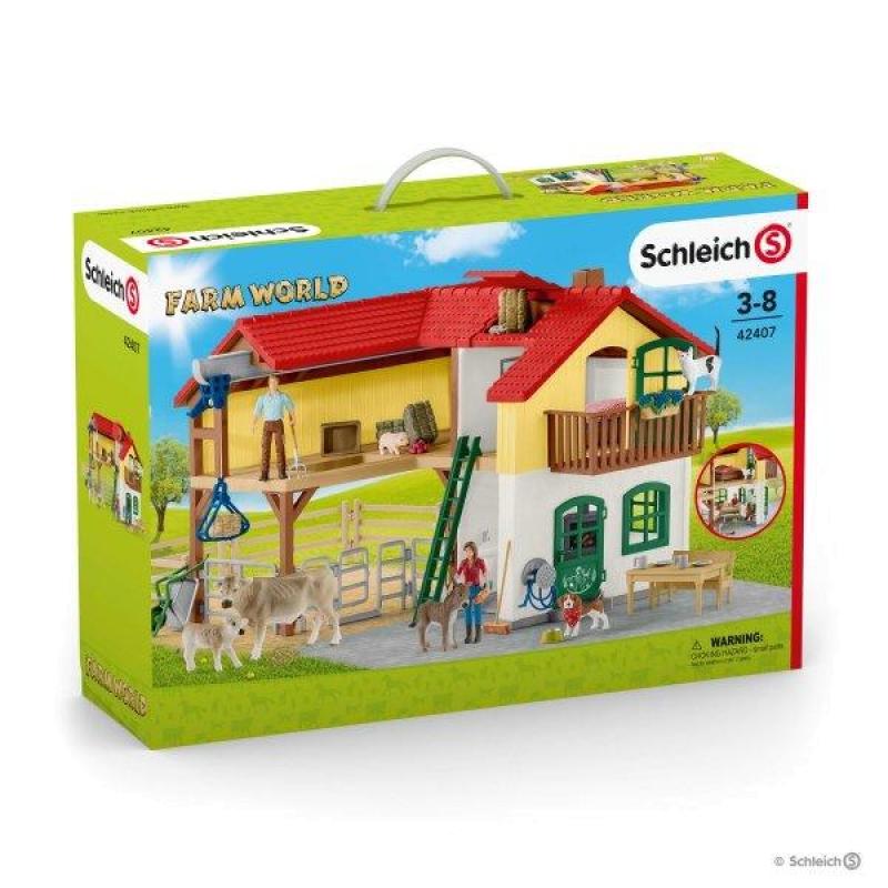 Figurine Schleich Grande Maison A La Ferme Animaux De La Ferme 42407