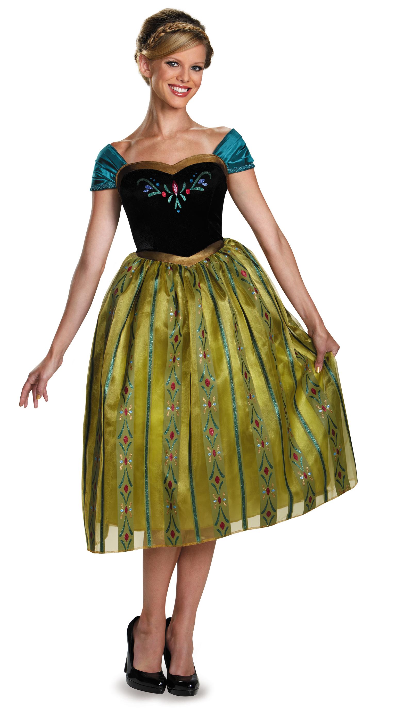 La Reine Des Neiges Costume De Luxe Du Couronnement D Anna Adulte Princesses Disney Femmes Disney