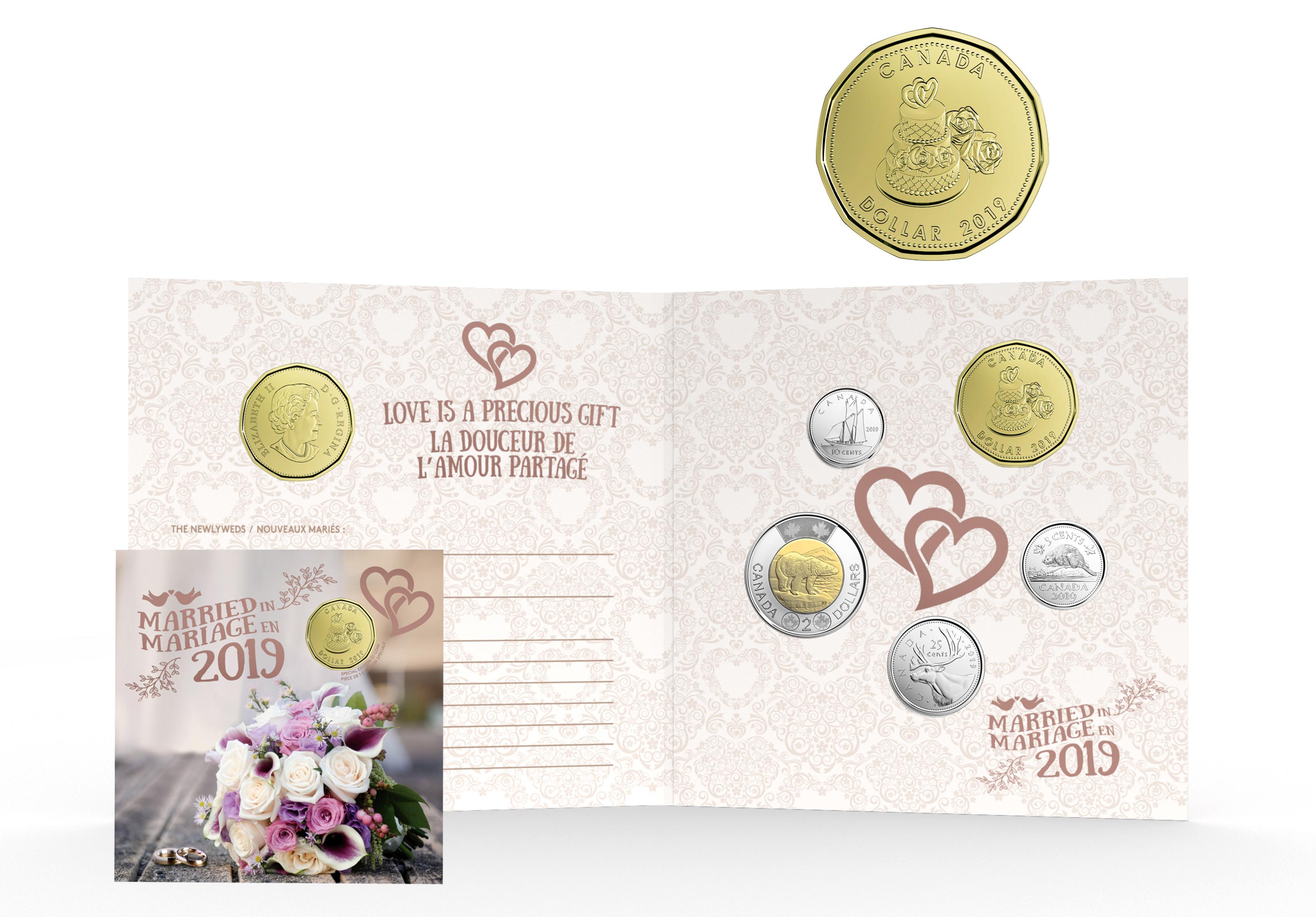 Mariages Ensemble Cadeau Pour Mariage 2019 Pièces Du Canada 2019 16