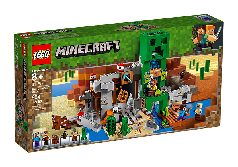 Minecraft La Mine Du Creeper 834 Pieces 21155 Lego Minecraft