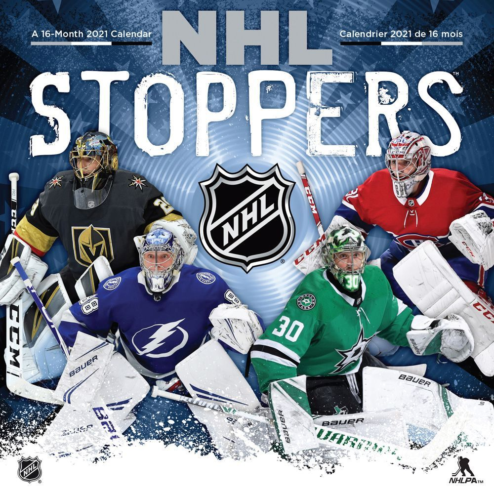NHL STOPPERS   CALENDRIER 2021 (16 MOIS) / CALENDRIERS
