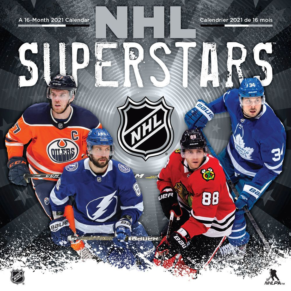NHL SUPERSTARS   CALENDRIER 2021 (16 MOIS) / CALENDRIERS