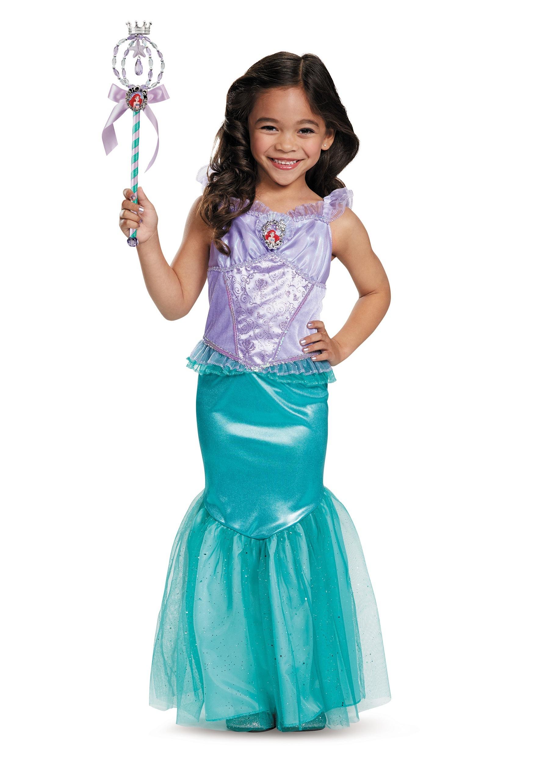 Petite sir ne la costume classique d 39 ariel enfant princesse disney filles de 3 ans - Petite princesse disney ...
