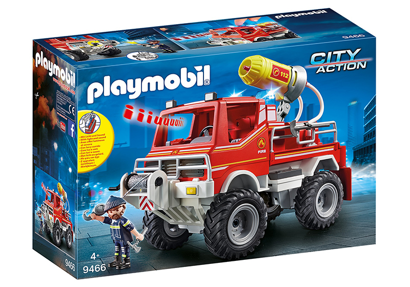 PLAYMOBIL -  4 X 4 DE POMPIER AVEC LANCE-EAU 9466