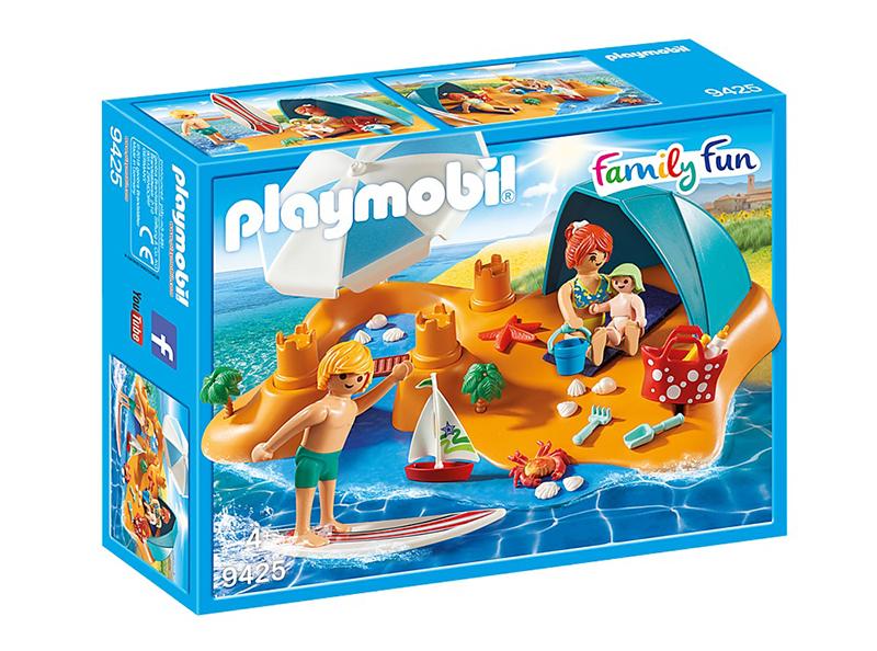 PLAYMOBIL -  FAMILLE DE VACANCIERS ET TENTE 9425
