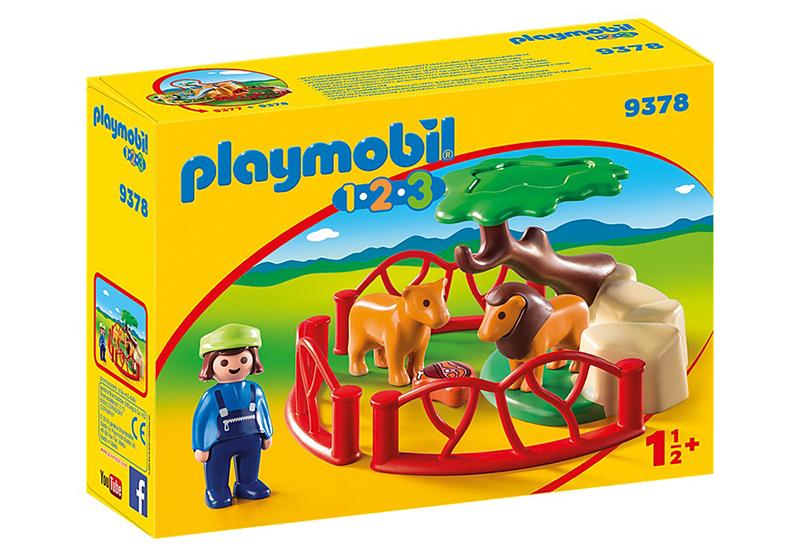 PLAYMOBIL -  LIONS ET ENCLOS 9378