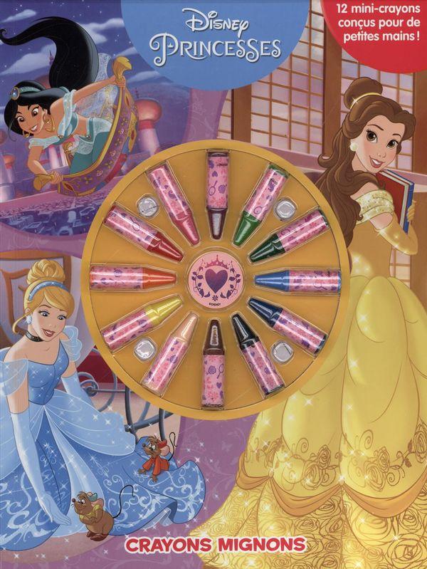 Princesses Crayons Mignons Cahier A Colorier Avec Crayons Princesses Disney