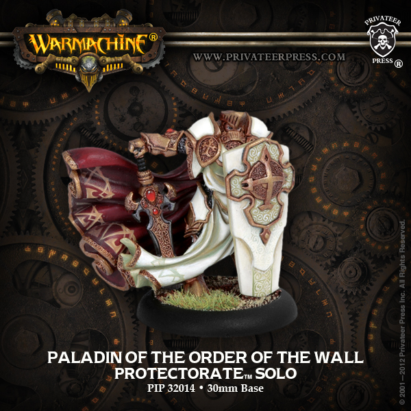 PROTECTORATE OF MENOTH -  PALADIN OF THE ORDER OF THE WALL -  WARMACHINE