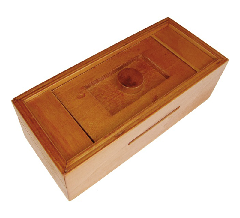 PUZZLE MASTER - SECRET PUZZLE BOX - BUTTON BANK / EN BOIS
