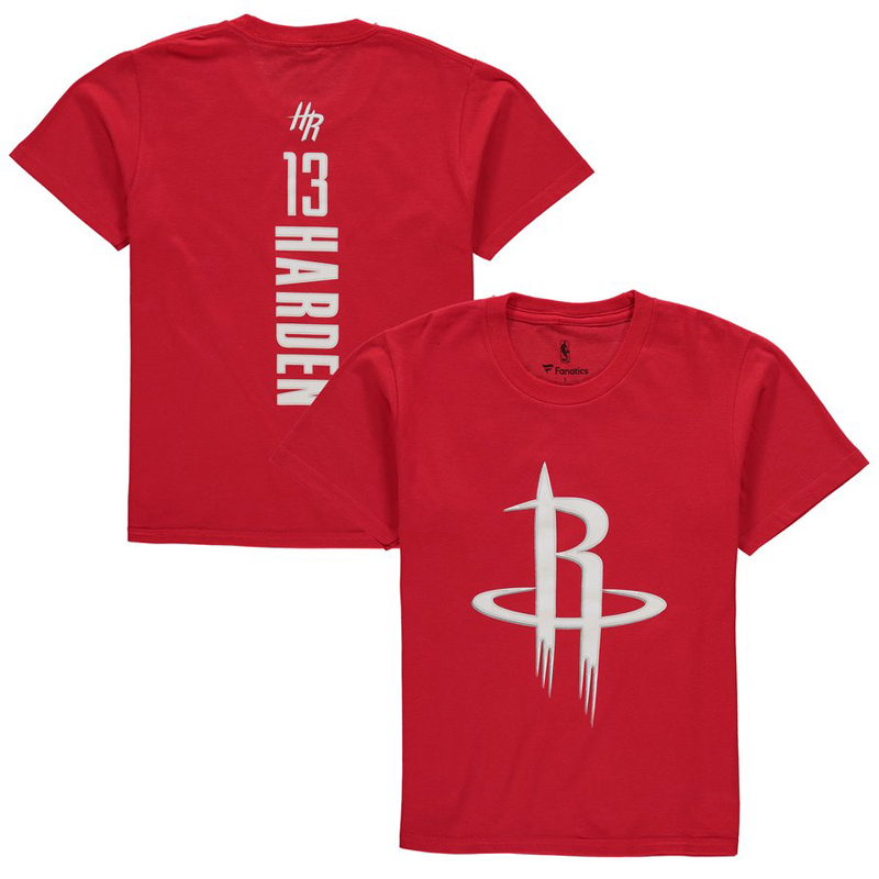 ROCKETS DE HOUSTON -  T-SHIRT JAMES HARDEN #13 - ROUGE