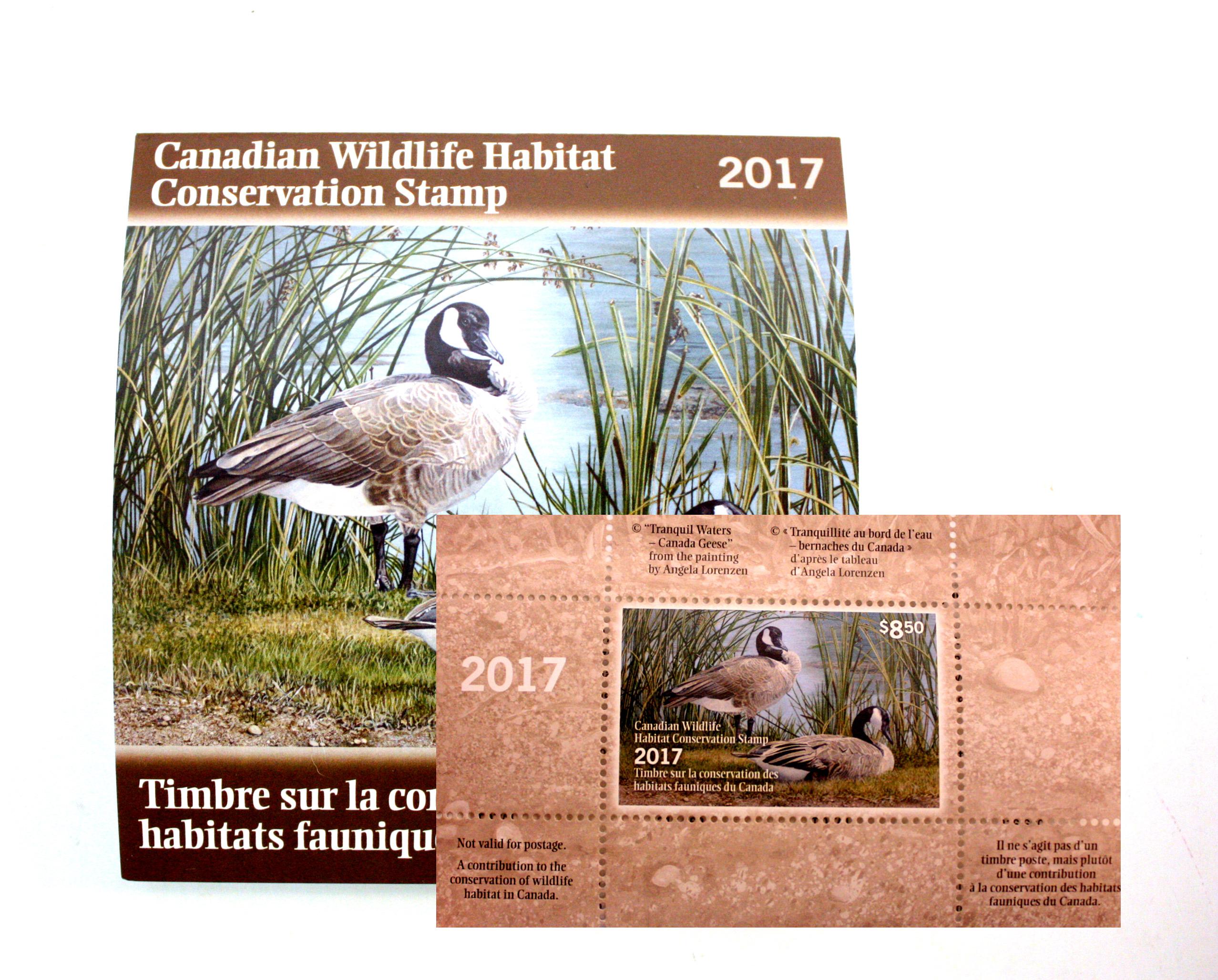 TIMBRES FAUNIQUES -  TIMBRE SUR LA CONSERVATION DES HABITATS FAUNIQUES DU CANADA 2017 33