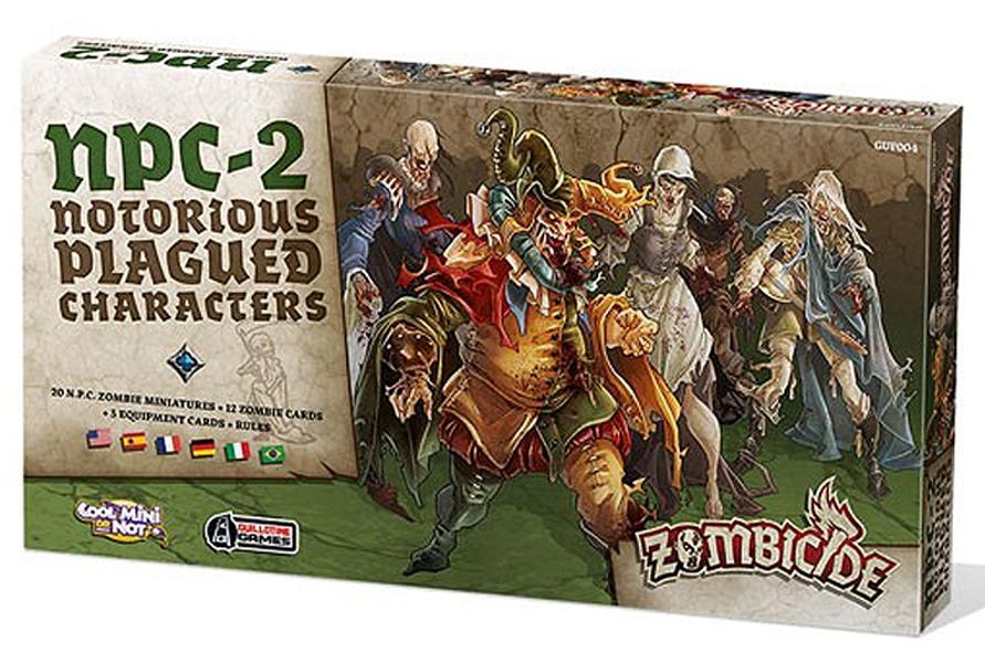 Protege Carte Zombicide Black Plague.Zombicide Black Plague Npc Notorious Plagued Characters Multilingue 2