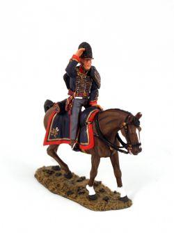 ÂGE DE NAPOLÉON -  FIGURINE D'OFFICIER MONTÉ (10 CM) - USAGÉ -  ROYAL HORSE ARTILLERY