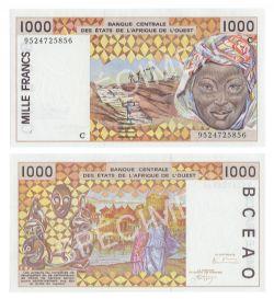 ÉTATS DE L'AFRIQUE DE L'OUEST (BURKINA FASO) -  1000 FRANCS 1995-1997 (UNC)