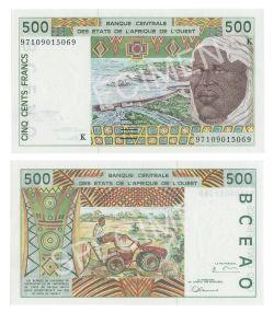 ÉTATS DE L'AFRIQUE DE L'OUEST (SÉNÉGAL) -  500 FRANCS 1997-1998 (UNC)