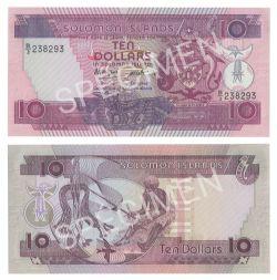 ÎLES SALOMON -  10 DOLLARS 1986 (UNC)