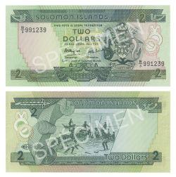ÎLES SALOMON -  2 DOLLARS 1986 (UNC)