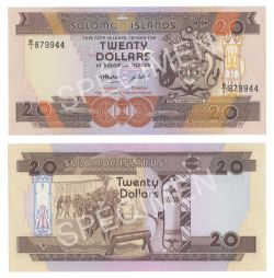ÎLES SALOMON -  20 DOLLARS 1986 (UNC)