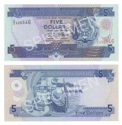 ÎLES SALOMON -  5 DOLLARS 1997 (UNC)