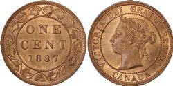 1 CENT -  1 CENT 1887 (MS-63) -  PIÈCES DU CANADA 1887