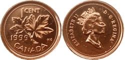 1 CENT -  1 CENT 1999 - PROOF-LIKE (PL) -  PIÈCES DU CANADA 1999