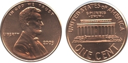 1 CENT -  1 CENT 2003 -  PIÈCES DES ETATS-UNIS 2003