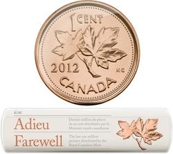 1 CENT -  ROULEAU DE 1 CENT 2012 - DERNIER MILLION DE 1 CENT DISTRIBUES -  PIÈCES DU CANADA 2012