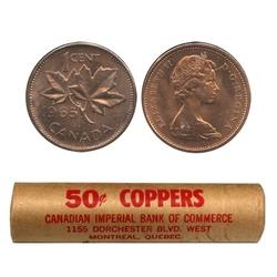 1 CENT -  ROULEAU ORIGINAL DE 1 CENT 1965 -  PIÈCES DU CANADA 1965