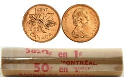 1 CENT -  ROULEAU ORIGINAL DE 1 CENT 1969 -  PIÈCES DU CANADA 1969