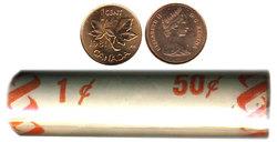 1 CENT -  ROULEAU ORIGINAL DE 1 CENT 1981 -  PIÈCES DU CANADA 1981