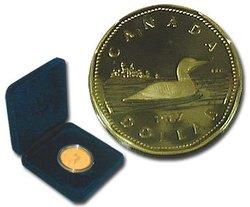 1 DOLLAR -  DOLLAR ÉPREUVE NUMISMATIQUE - HUARD À COLLIER -  PIÈCES DU CANADA 1987