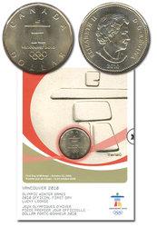 1 DOLLAR -  PORTE-BONHEUR OLYMPIQUE - PIÈCE PREMIER JOUR OFFICIELLE -  PIÈCES DU CANADA 2010 04