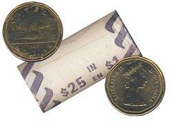 1 DOLLAR -  ROULEAU ORIGINAL DE 1 DOLLAR 1987 -  PIÈCES DU CANADA 1987