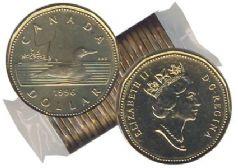 1 DOLLAR -  ROULEAU ORIGINAL DE 1 DOLLAR 1996 -  PIÈCES DU CANADA 1996