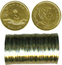 1 DOLLAR -  ROULEAU ORIGINAL DE 1 DOLLAR 2012