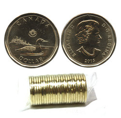 1 DOLLAR -  ROULEAU ORIGINAL DE 1 DOLLAR 2015 -  PIÈCES DU CANADA 2015