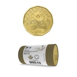 1 DOLLAR -  ROULEAU ORIGINAL DE 1 DOLLAR 2016 - PORTE-BONHEUR (EMBALLAGE SPÉCIAL) -  PIÈCES DU CANADA 2016