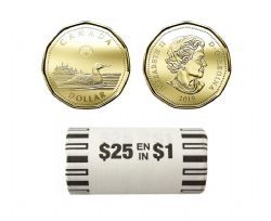 1 DOLLAR -  ROULEAU ORIGINAL DE 1 DOLLAR 2019 -  PIÈCES DU CANADA 2019