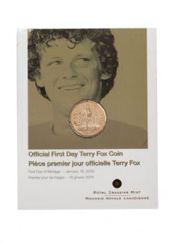 1 DOLLAR -  TERRY FOX - PIÈCE PREMIER JOUR OFFICIELLE -  PIÈCES DU CANADA 2005