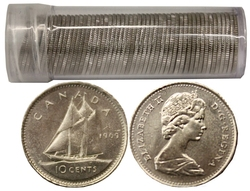 10 CENTS -  10 CENTS 1969 - LOT DE 50 PIÈCES - BRILLANT INCIRCULÉ (BU) -  PIÈCES DU CANADA 1969