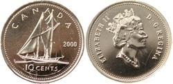10 CENTS -  10 CENTS 2000 - PROOF-LIKE (PL) -  PIÈCES DU CANADA 2000