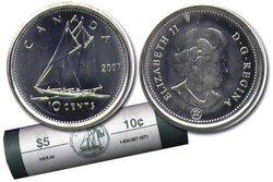 10 CENTS -  ROULEAU ORIGINAL DE 10 CENTS 2007