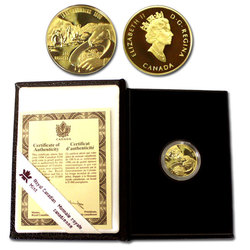 100 DOLLARS -  100E ANNIVERSAIRE DE LA PREMIÈRE DÉCOUVERTE D'OR DANS LE KLONDIKE -  PIÈCES DU CANADA 1996 21