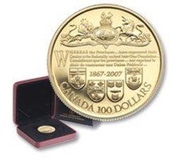 100 DOLLARS -  140E ANNIVERSAIRE DU DOMINION DU CANADA -  PIÈCES DU CANADA 2007 32