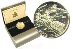 100 DOLLARS -  150E ANNIVERSAIRE DE LA RECHERCHE DE L'EXPÉDITION FRANKLIN -  PIÈCES DU CANADA 2000 25