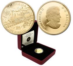 100 DOLLARS -  175E ANNIVERSAIRE DU PREMIER CHEMIN DE FER DU CANADA -  PIÈCES DU CANADA 2011 36